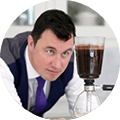 Testimonial by tabaq client Richard Hardwick of halo coffee